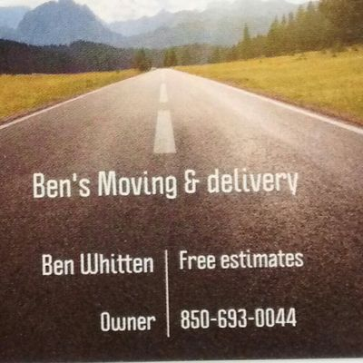 Ben's Moving & Delivery Greenwood, FL Thumbtack