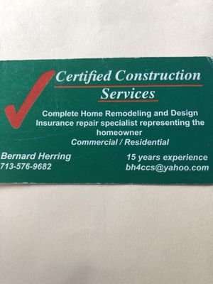 Certified Construction Services Spring, TX Thumbtack