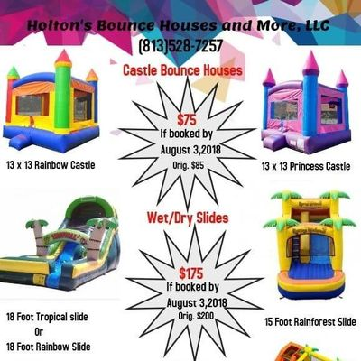 Holton's Bounce Houses and More,LLC Tampa, FL Thumbtack