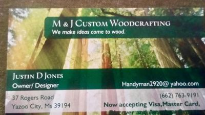 M&J Custom Woodworking Yazoo City, MS Thumbtack