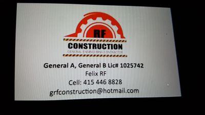 RF CONSTRUCTION ENGINEERING San Rafael, CA Thumbtack