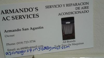 Armando's Ac Services Raleigh, NC Thumbtack