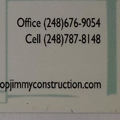 Top Jimmy Construction llc Milford, MI Thumbtack