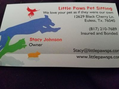 Little Paws Petsitting Euless, TX Thumbtack