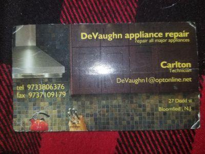 DeVaughn CT appliance repair Irvington, NJ Thumbtack