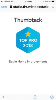 Eagle Home Solutions  inc. (Walt . L) Manassas, VA Thumbtack
