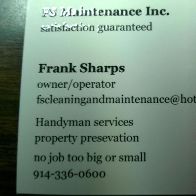 FS Maintenance Inc Peekskill, NY Thumbtack