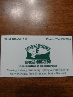 Green Thumb Lawn Service South Rockwood, MI Thumbtack