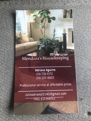 Mendoza's Housekeeping Carrollton, TX Thumbtack