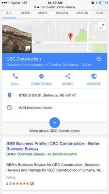 CBC construction Omaha, NE Thumbtack