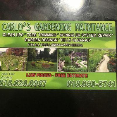 Carlos Gardening Service North Hills, CA Thumbtack
