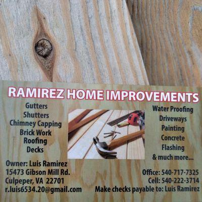 Ramírez Home improvements Culpeper, VA Thumbtack
