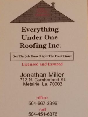 Everything under one roofing Inc. Metairie, LA Thumbtack