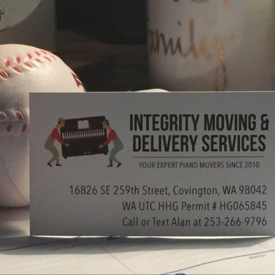 Integrity Moving and Delivery Services. Kent, WA Thumbtack