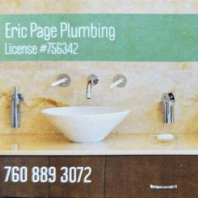 Eric Page Plumbing Vista, CA Thumbtack
