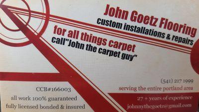 John Goetz flooring Portland, OR Thumbtack