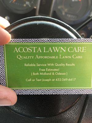 Acosta lawn care Midland, TX Thumbtack