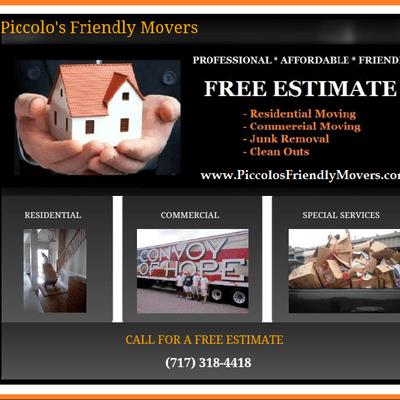 Piccolo's Friendly Movers York, PA Thumbtack