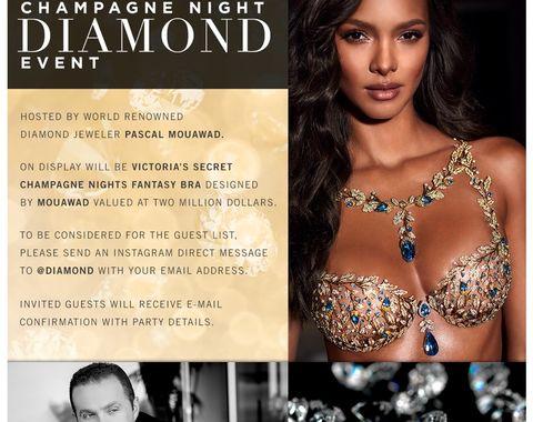 Champagne diamond event - Victoria Secret Fantasy Bra