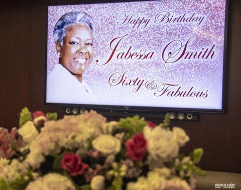 Jabessa Smith gala birthday celebration