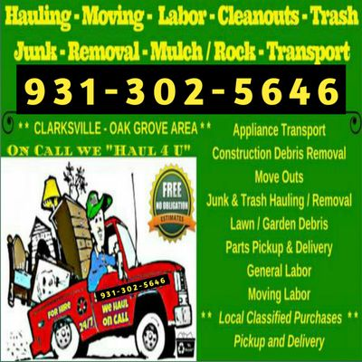 Haul4U Services - A Man and A Truck Clarksville, TN Thumbtack