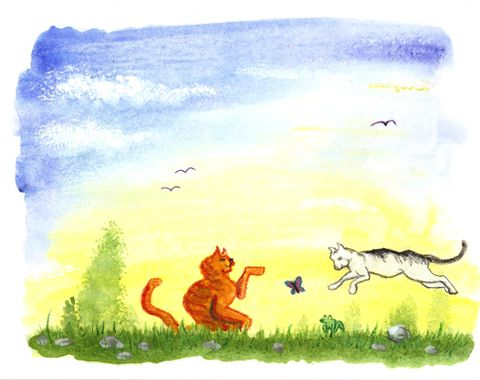 Down By The River - children's book illustration