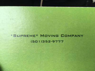 """Supreme"" Moving Company Little Rock, AR Thumbtack"
