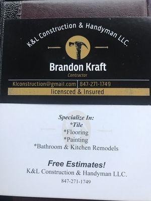 K&L Construction & Handyman LLC Elk Grove Village, IL Thumbtack