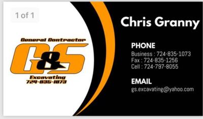 G&S Excavating LLC Herminie, PA Thumbtack