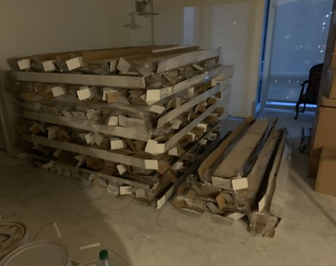 Delivery of flooring