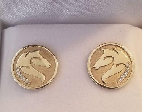 CCBC 14Kt Custom Diamond Earrings