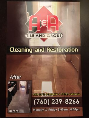 A&A TILE AND GROUT CLEANING AND RESTORATION Escondido, CA Thumbtack