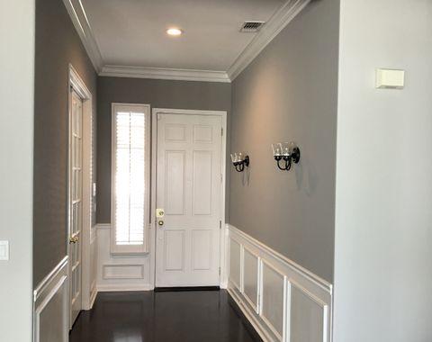 Interior painting and trim installation