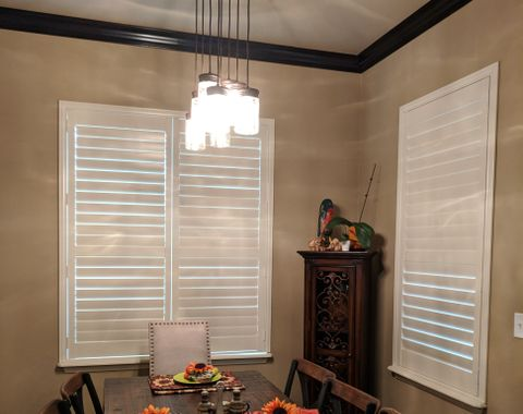 White Real Wood Shutters