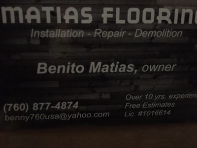 Matias Flooring C-15  1016614 San Marcos, CA Thumbtack