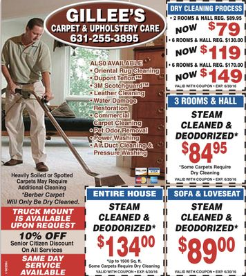 Gillee's Carpet cleaning Riverhead, NY Thumbtack