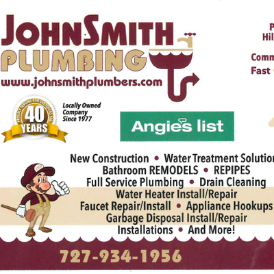 JohnSmith Plumbing Tarpon Springs, FL Thumbtack