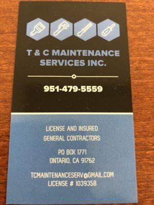 T & C Maintenance Services Ontario, CA Thumbtack