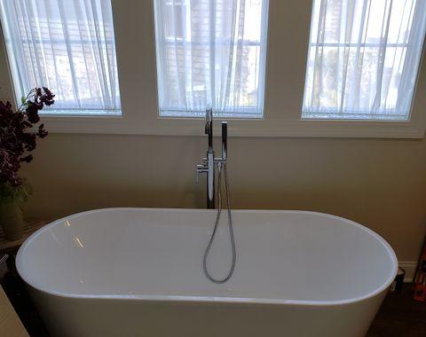 New tub installation, plumbing