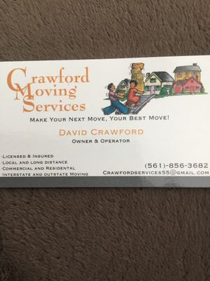 Crawford Moving Services Palm Beach Gardens, FL Thumbtack