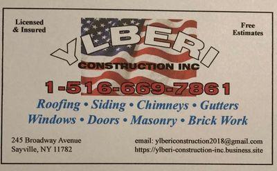 Ylberi Construction inc Hauppauge, NY Thumbtack