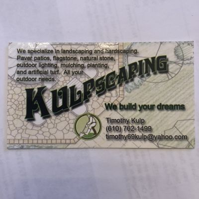 Kulpscaping LLC Kintnersville, PA Thumbtack