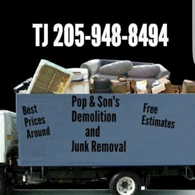 Pop & Sons Demolition, and Junk removal. Montevallo, AL Thumbtack