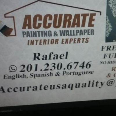 ACCURATE WALLPAPER, PAINTING ,WALLCOVERING,DRYWALL Newark, NJ Thumbtack