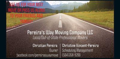 Pereiras Way Moving Company LLC New Orleans, LA Thumbtack