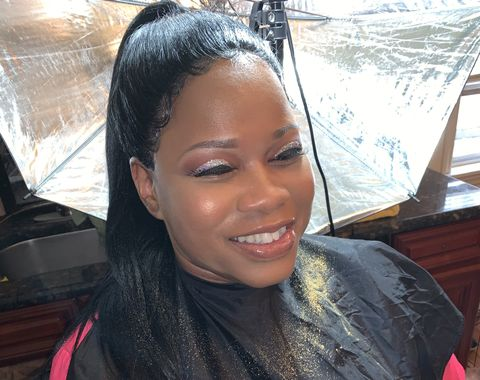 Birthday Full face & Glitter cut Crease Eyeshadow  & Lashes
