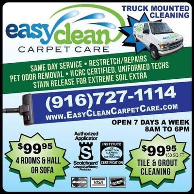 Easy Clean Carpet Care Sacramento, CA Thumbtack
