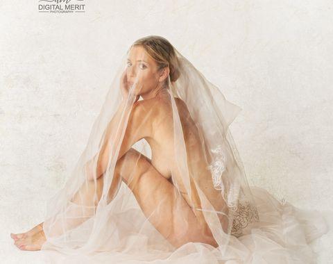 Bridal Boudoir in the Studio