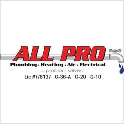 All Pro Plumbing, Heating, Air & Electrical Ontario, CA Thumbtack