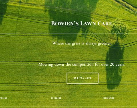 Lawn Care and Hardscape Website